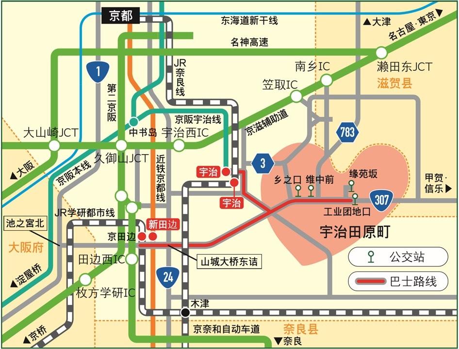 前往宇治田原町的交通路线