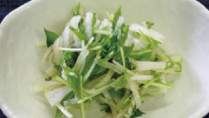 みず菜のお浸しサラダ