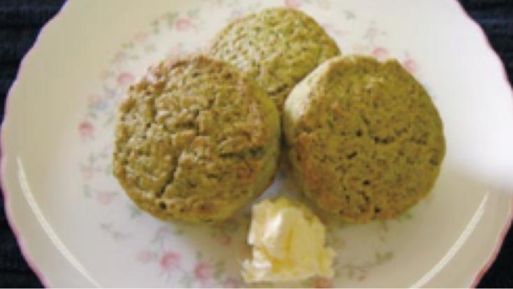 緑茶風味の簡単スコーン